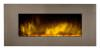 Decorative fireplace Efydis EF 086 CheminArte Pure Inox XXL Color Style with Remote Control Electric fireplace without real combustion Very realistic flame effect created by color changing leds Heating power 1000-2000W Dimensions 120x13x52 cm