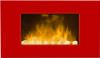 Electric Fireplace Red Line Color Style