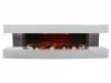 White Lounge 3XL electric fireplace