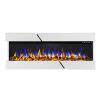 Decorative wallmounted electric fireplac