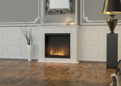 Traditional biofuel fireplace White