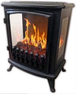Chemin Arte efydis Portable fireplace Fire Glass Black is a product on offer at the best price