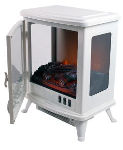 Chimenea movil Fire Glass Blanco