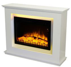 Electric fireplace with frame