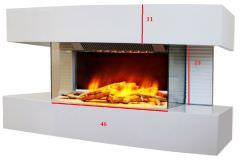Chemin'Arte White Lounge floor fireplace is a product on offer at the best price