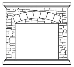 Electric fireplace complete Stone