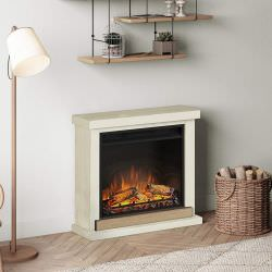 Electric fireplace complete Ivory