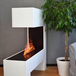 Electric water fireplace Mozart White