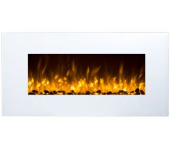 GLOW-FIRE White Led wallmounted electric fireplace is a product on offer at the best price