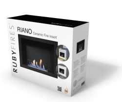 Built in Bioethanol Fireplace Riano