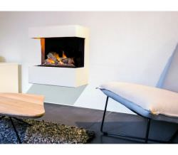 Frame for Wall Fireplace White MDF wood