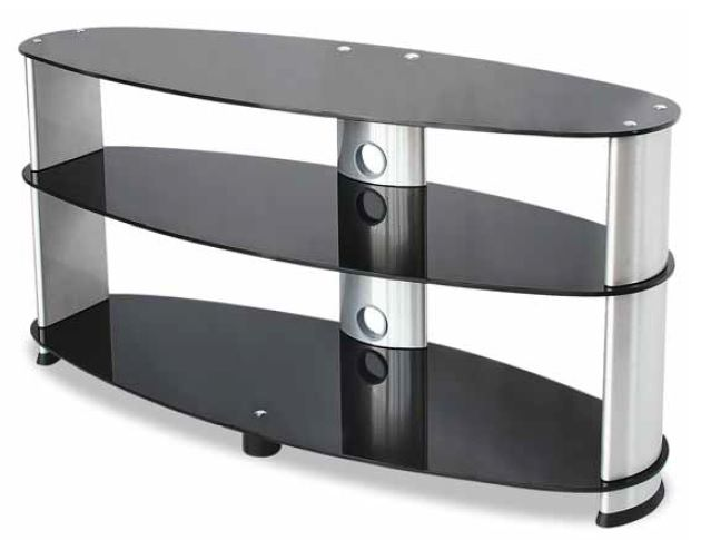 Carrello Porta TV universale Guarnieri Nero e Silver