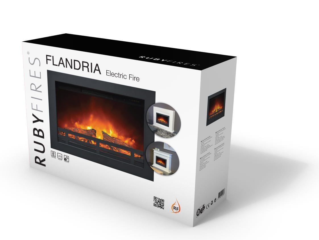 Camino Elettrico Bianco : Camino elettrico a incasso flandria con effetto fiamma