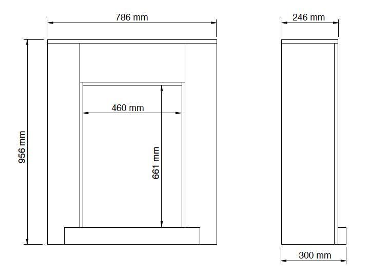 Caminetto Completo con cornice in legno